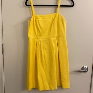 Loft yellow tank dress